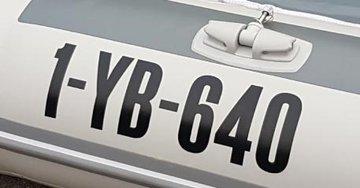 Rubberboot Y-registratie (voor beide zijden)